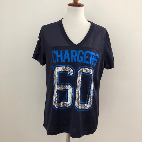 VS Pink San diego Chargers jersey Top. M 5ab85517077b97e0d1342327 a304f77ec